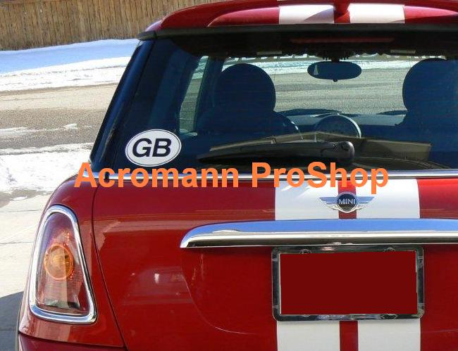 "Great Britain Oval ""GB"" 5.25inch decal (Style#2) x 1 pc"