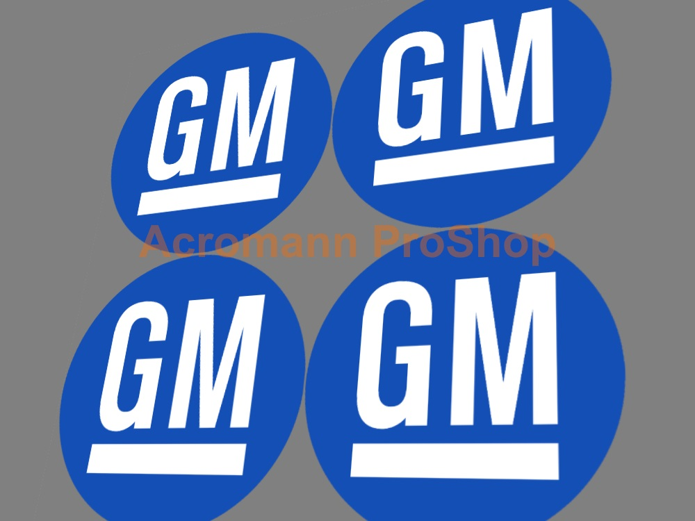 GM 2.2inch Wheel Cap Decal x 4 pcs