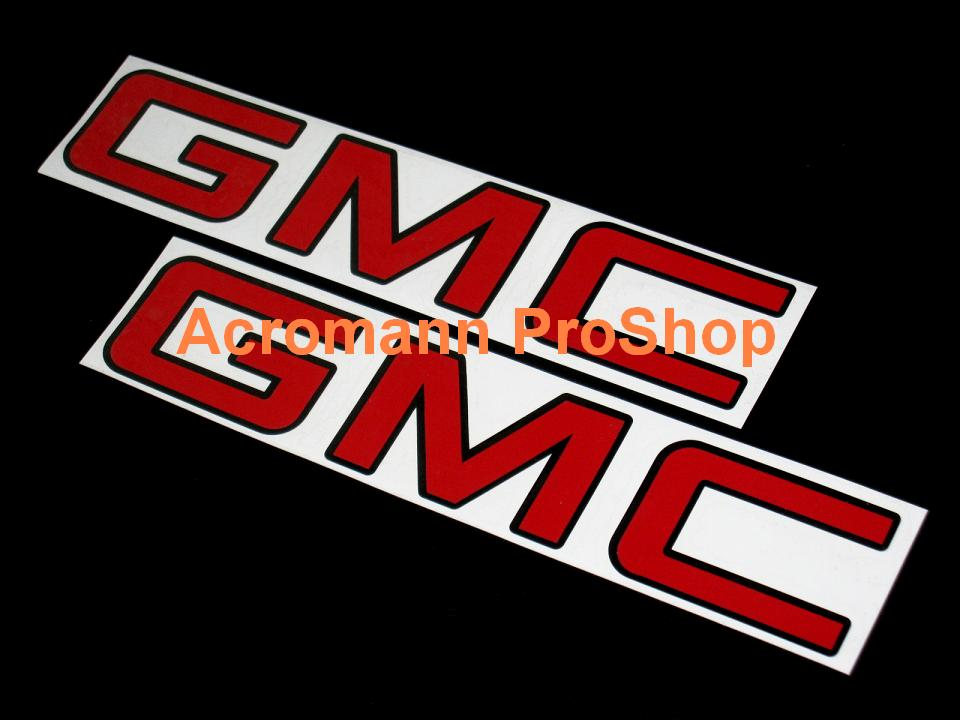 GMC 6inch Decal (Style#1) x 2 pcs