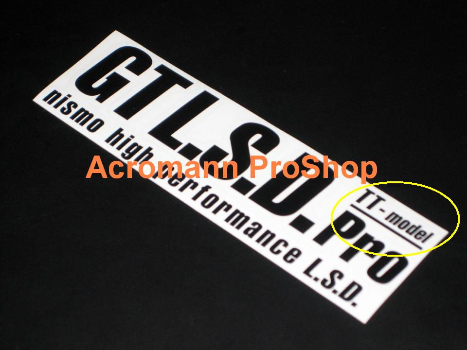 NISMO GT LSD Pro TT-model 6inch Decal x 2 pcs