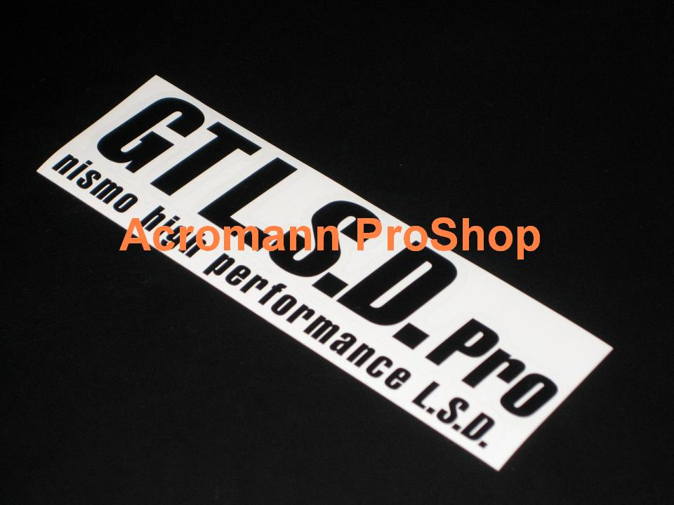 NISMO GT LSD Pro 6inch Decal x 2 pcs