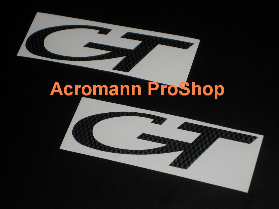 Porsche GT 4inch Decal x 2 pcs