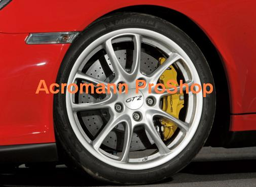 Porsche GT2 2.2inch Wheel Cap Decal x 4 pcs
