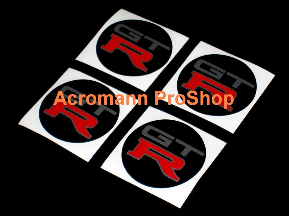 GTR (GT-R) 2.2inch Wheel Cap Decal (Style#1) x 4 pcs