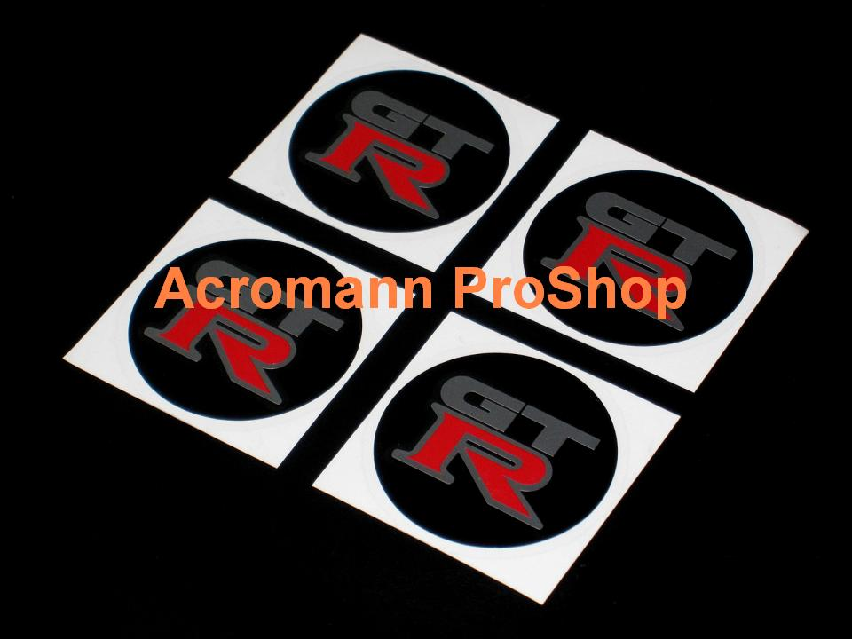 GTR (GT-R) 2.2inch Wheel Cap Decal (Style#2) x 4 pcs