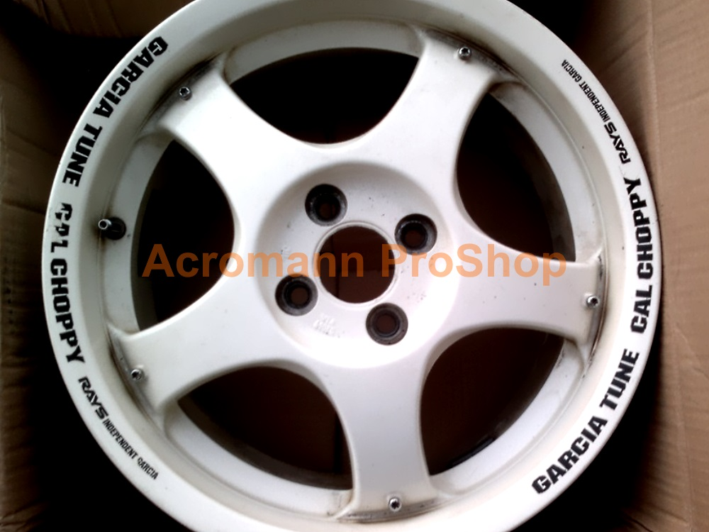 RAYS Garcia Tune Cal Choppy 11inch curved Alloy Wheel Decalx4pcs