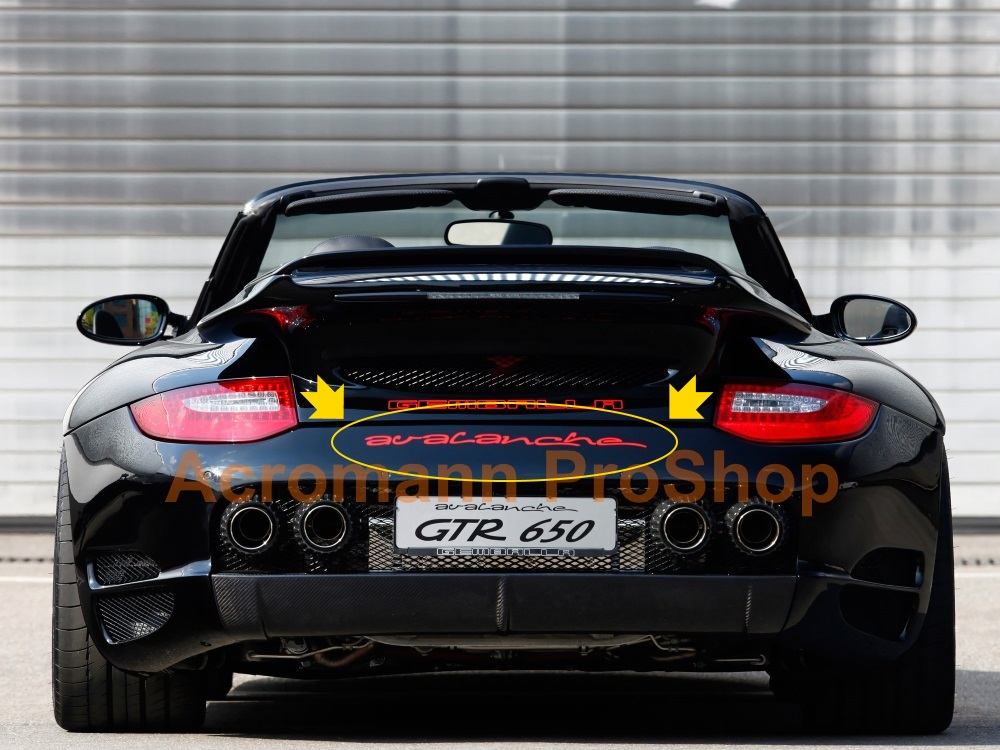 Gemballa Avalanche Rear Trunk Decal x 1 pc