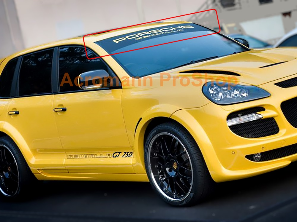 Porsche GEMBALLA Windshield Decal for Panamera / Cayenne / Macan