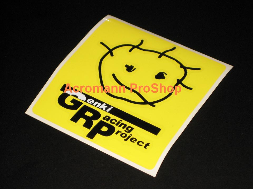 Genki Racing Project (D1) 4inch Decal (Style#2) x 2 pcs