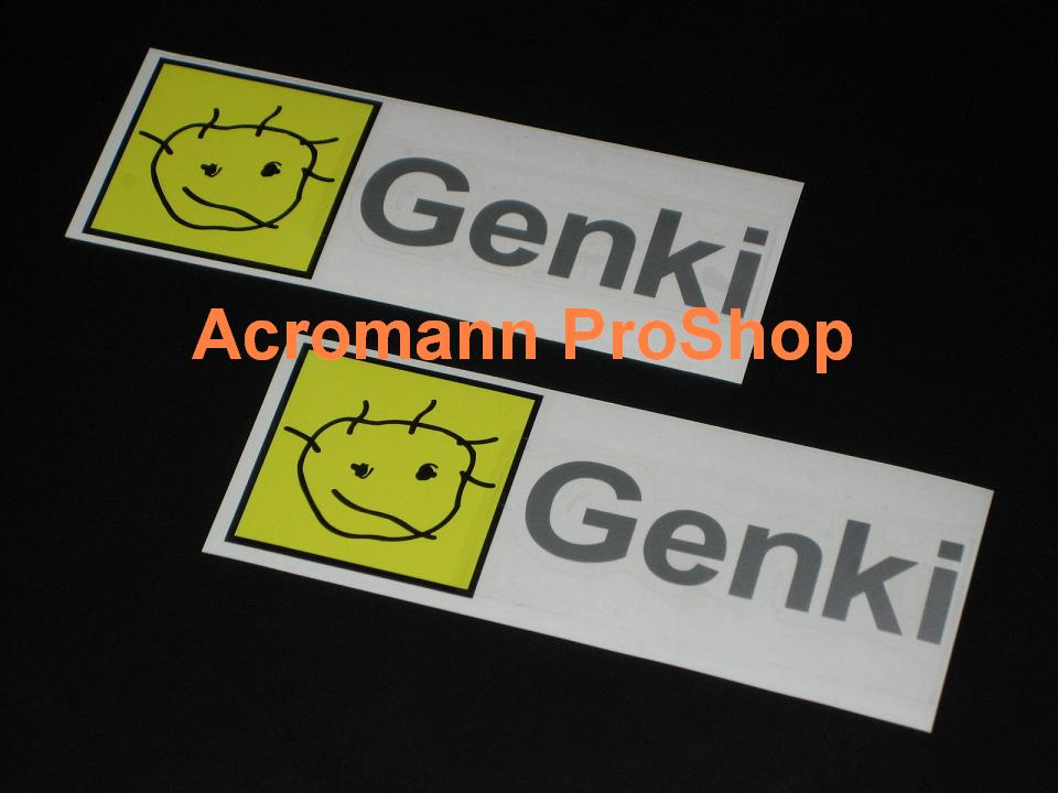 Genki Racing Project (D1) 6inch Decal (Style#3) x 2 pcs