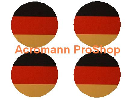 Germany Flag 2.2inch Wheel Cap Decal x 4 pcs