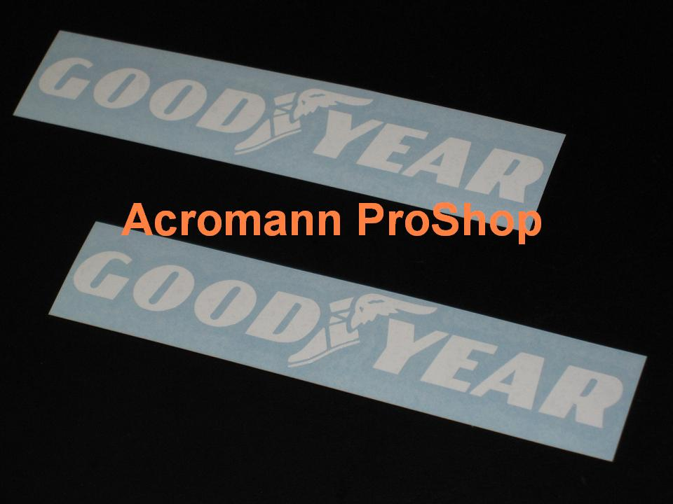 Goodyear 6inch Decal (Style#1) x 2 pcs