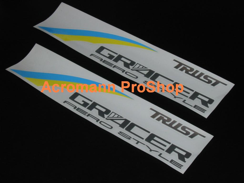 TRUST (GReddy) GRACER 6inch Decal x 2 pcs