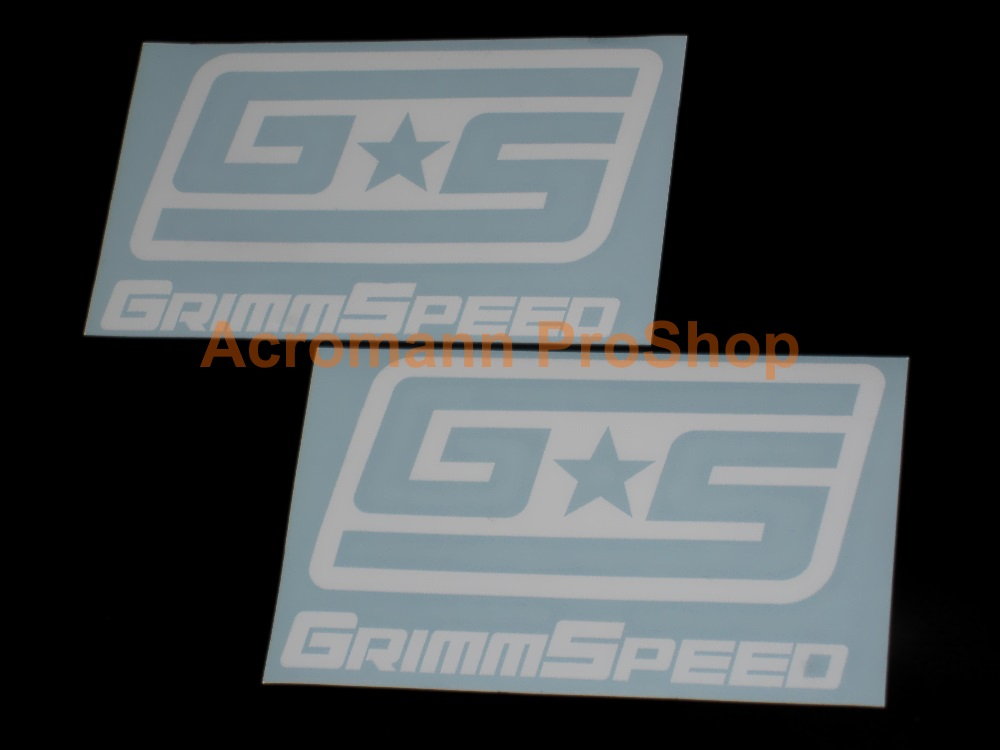 GrimmSpeed 6inch Decal (Style#2) x 2 pcs