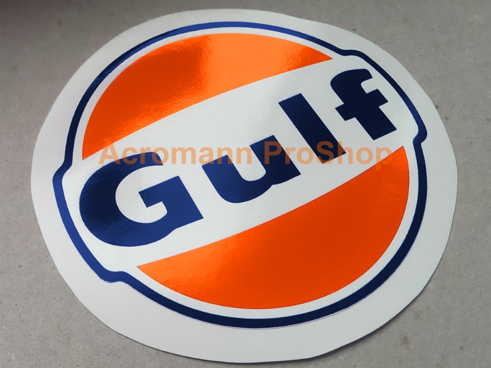 Gulf Racing 3inch Decal (Style#1) x 2 pcs