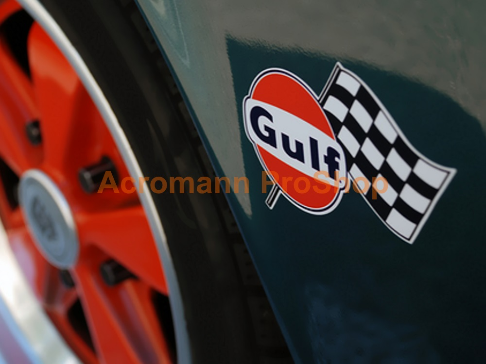 Gulf Racing 3inch Decal (Style#2) x 2 pcs