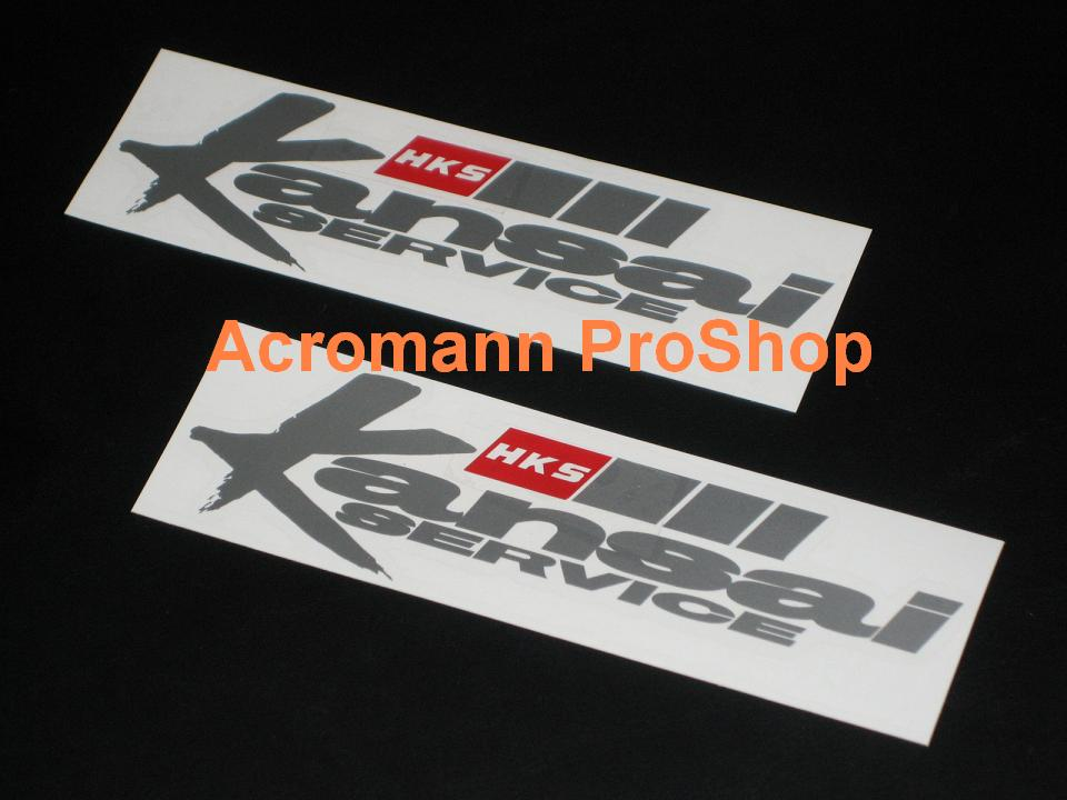 HKS Kansai 6inch Decal (Style#2) x 2 pcs