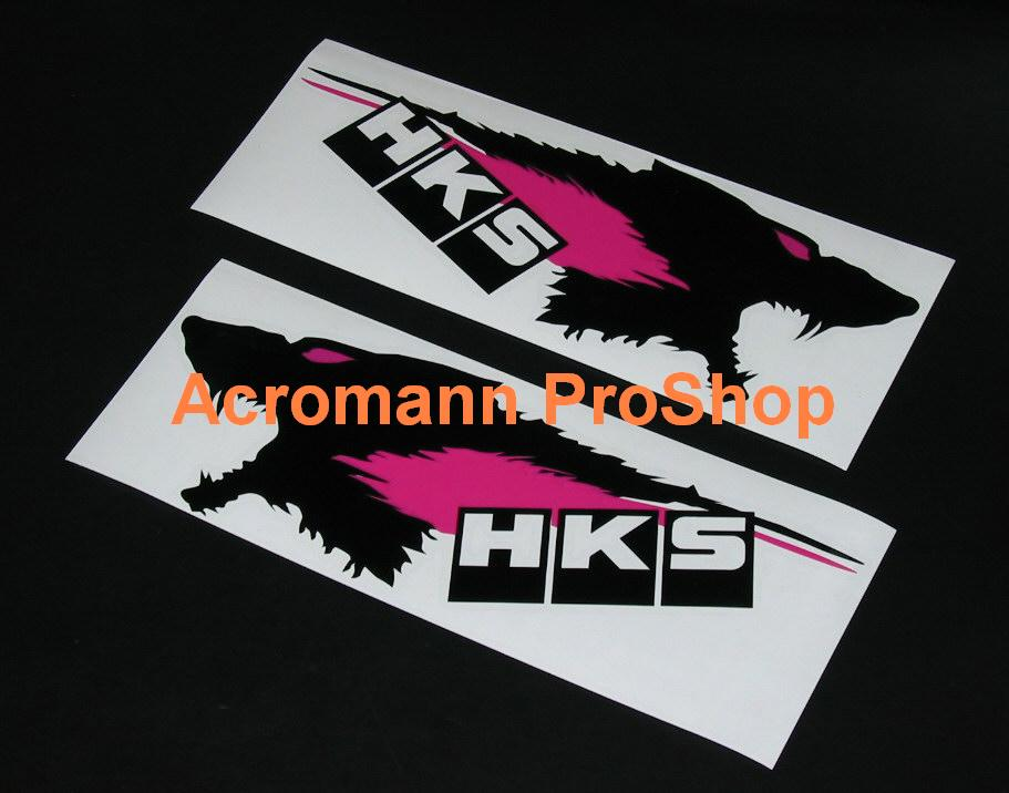 HKS Wolf Head 6inch Decal x 2 pcs
