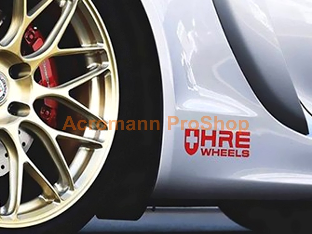 HRE Wheels 6inch Decal (Style#1) x 2 pcs