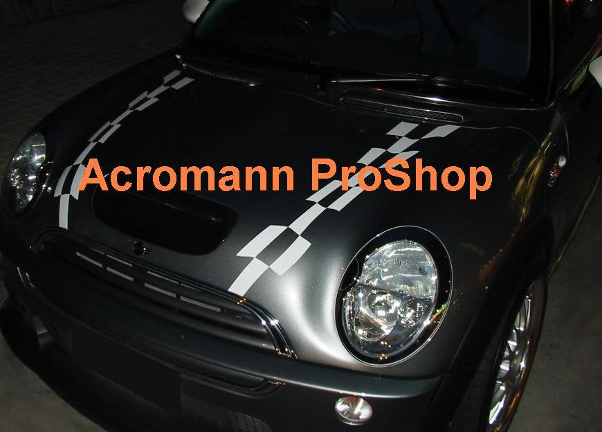 HAMANN New Mini Cooper Bonnet Decal x 1 pair (LHS & RHS)