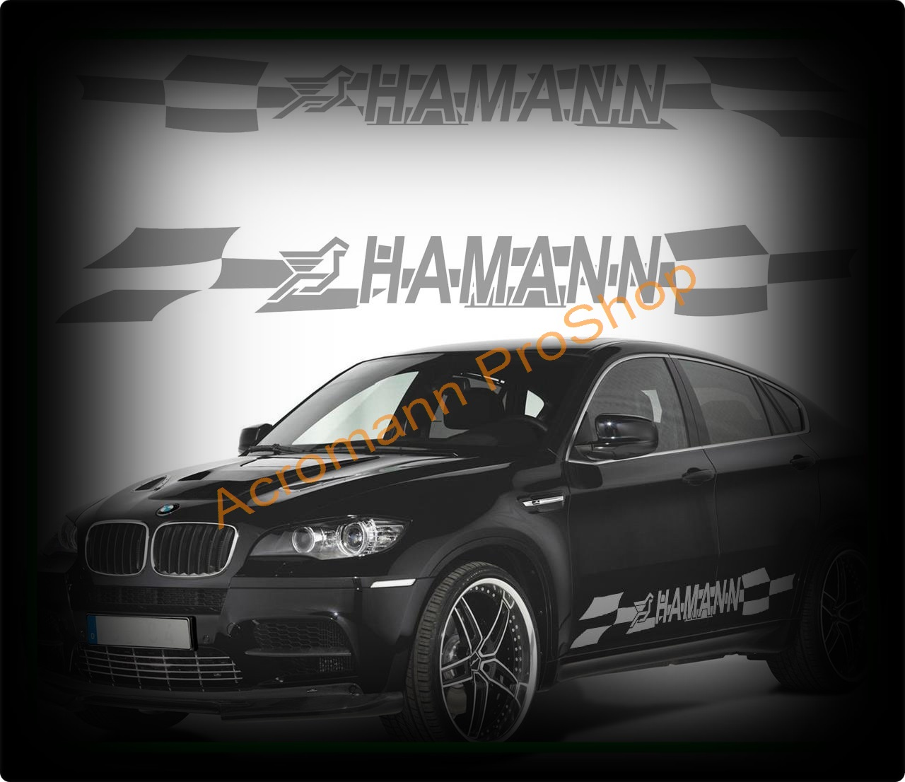 HAMANN Side Door Checker Decal (Style#3) x 1 pair (LHS & RHS)
