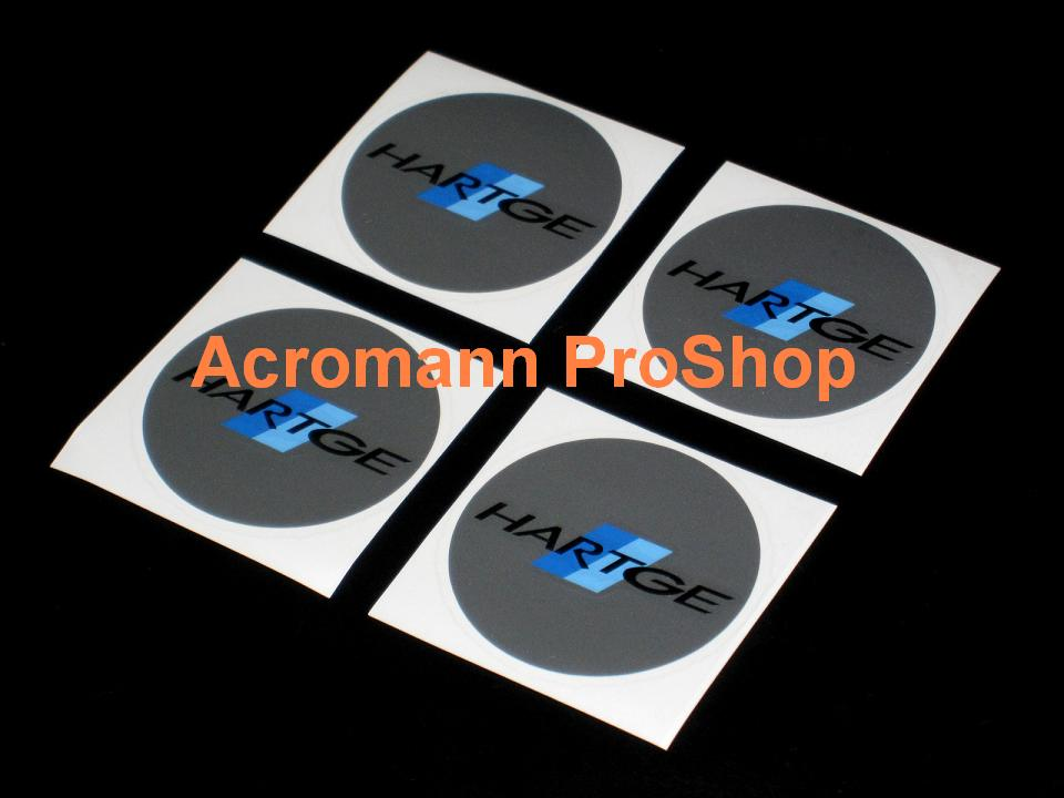 Hartge 2.2inch Wheel Cap Decal x 4 pcs