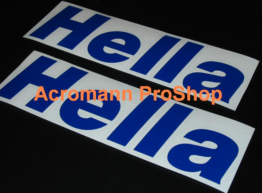 Hella lettering 6inch Decal x 2 pcs