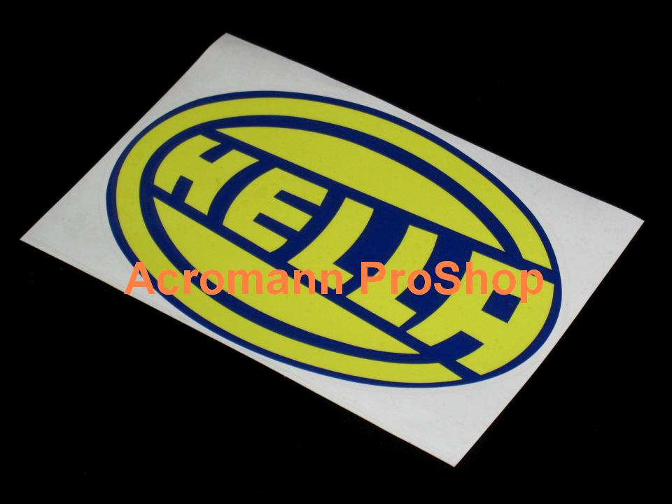 Yellow Oval Logo Hella Oval Logo Decals