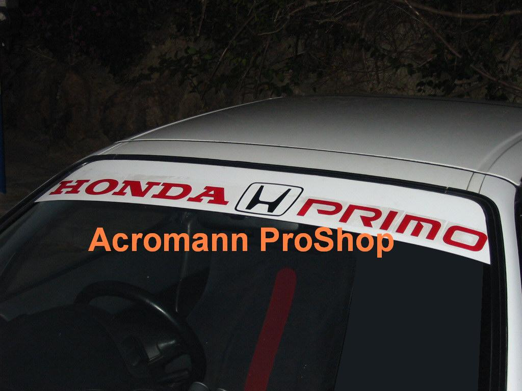 Primo Windshield Decal