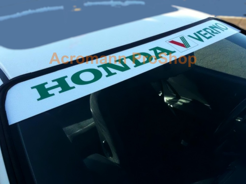 Verno Windshield Decal (Style#2)