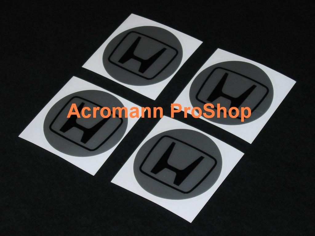 H 2.2inch Wheel Cap Decal (Style#1) x 4 pcs