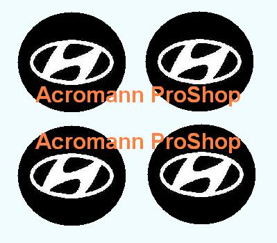Hyundai 2.2inch Wheel Cap Decal x 4 pcs
