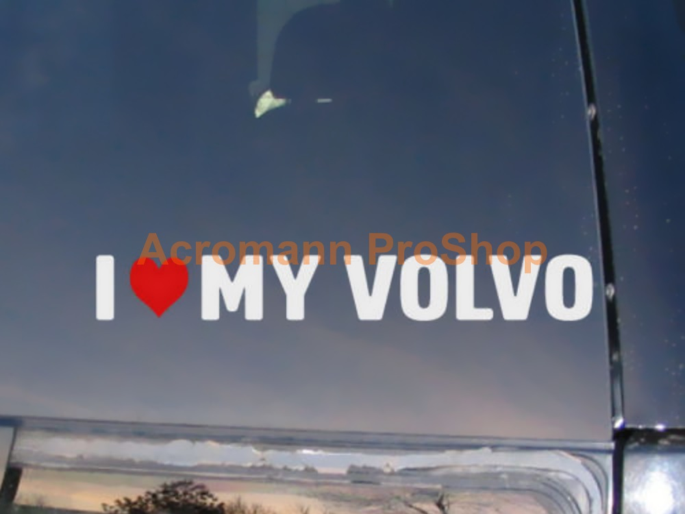I Love My VOLVO 6inch Decal (Style#1) x 2 pcs