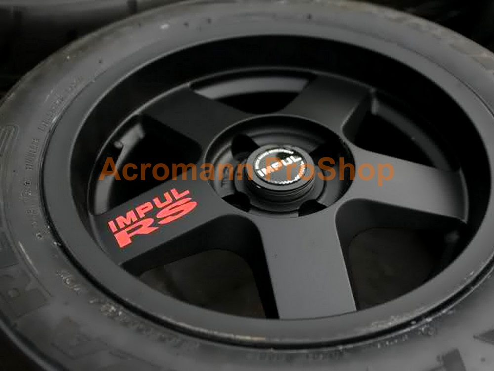 IMPUL RS 3inch Alloy Wheel Decal x 4 pcs