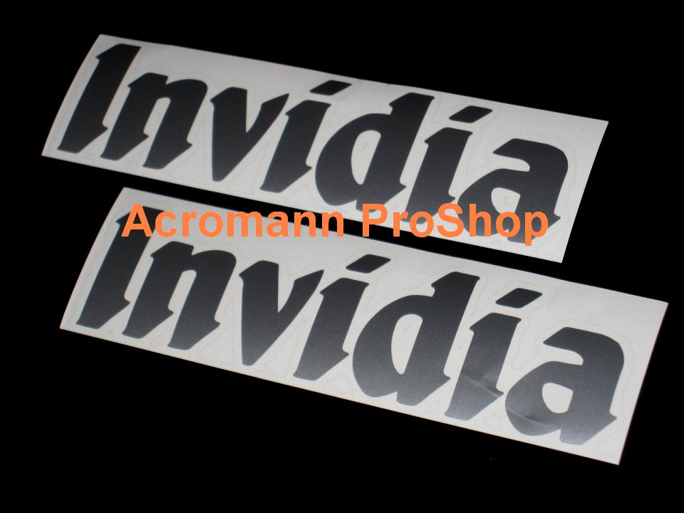Invidia 6inch Decal x 2 pcs