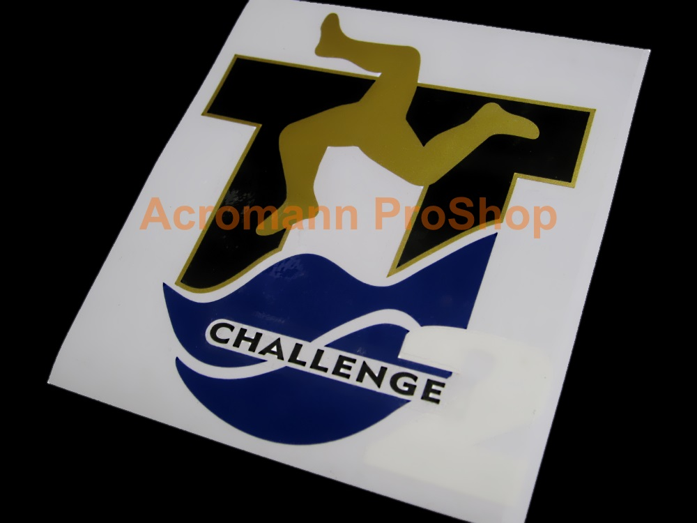 Isle of Man TT Challenge 6inch Decal x 2 pcs