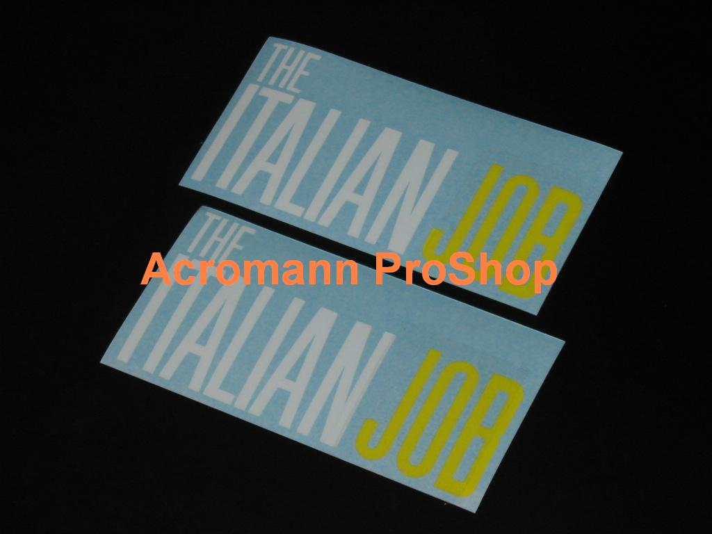 THE ITALIAN JOB 5inch Decal x 2 pcs