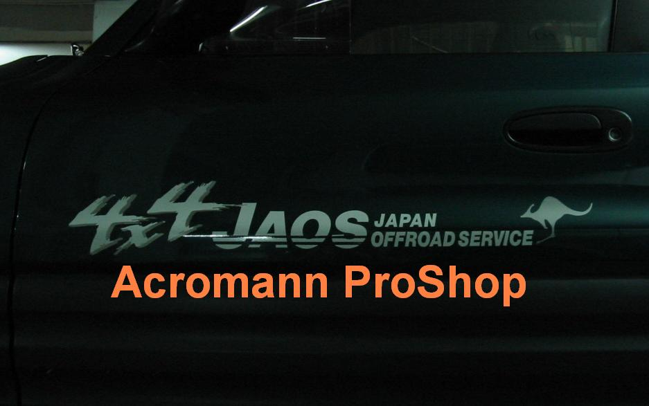 JAOS Japan Offroad Service 8.5inch Decal (Style#2) x 2 pcs