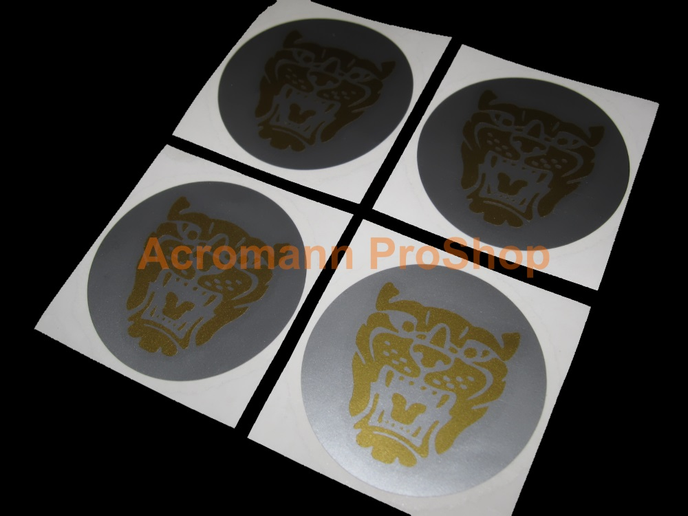 Jaguar 2.2inch Wheel Cap Decal (Style#3) x 4 pcs