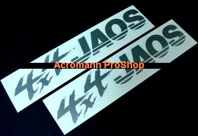 JAOS Japan Offroad Service 6inch Decal (Style#3) x 2 pcs