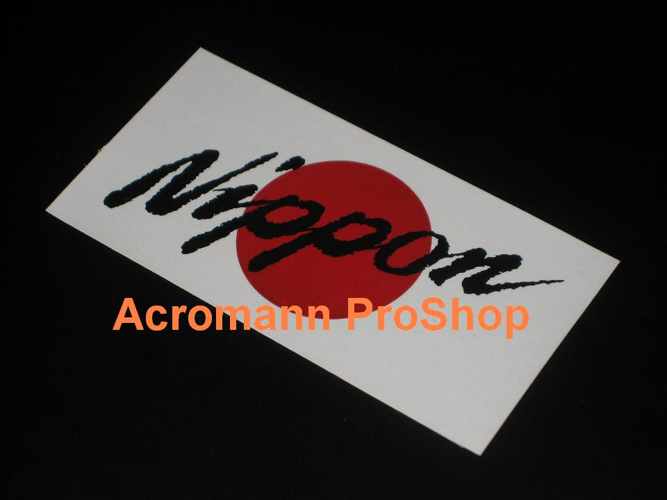 Japan Nippon Country Flag 5.25inch Decal x 1 pc