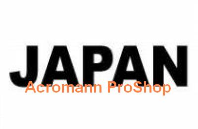 JAPAN lettering 6inch Decal x 2 pcs