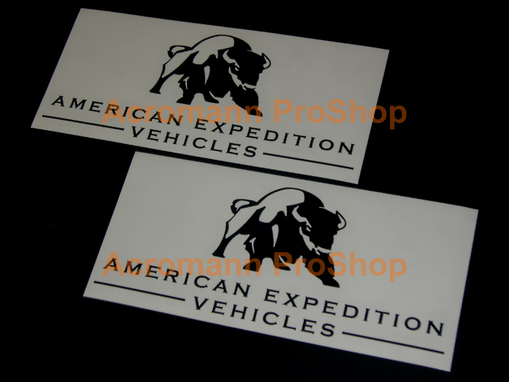 Jeep AEV American Expedition Vehicles 6inch Decal (Style#1)x2pcs