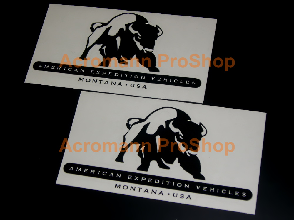 Jeep AEV American Expedition Vehicles 6inch Decal (Style#2)x2pcs