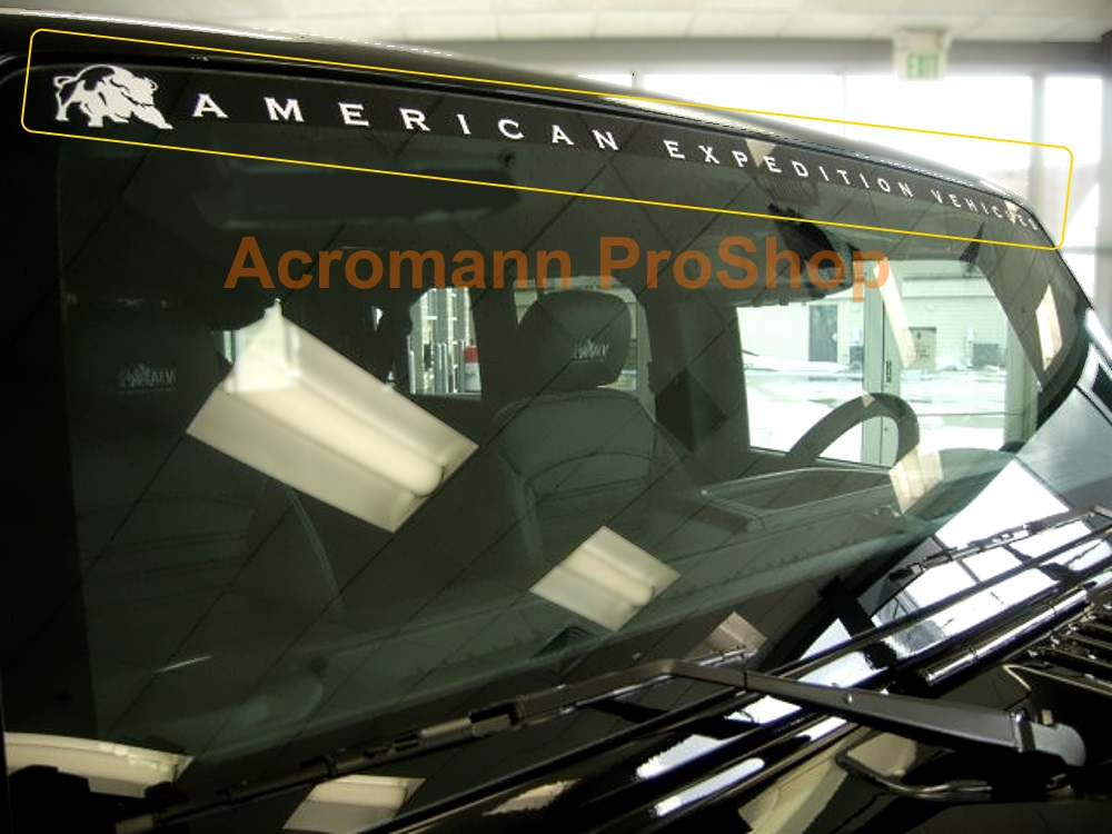 Jeep AEV American Expedition Vehicles Windshield Decal