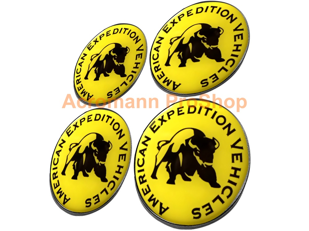 AEV American Expedition Vehicles 2.2inch Wheel Cap Decal x 4pcs