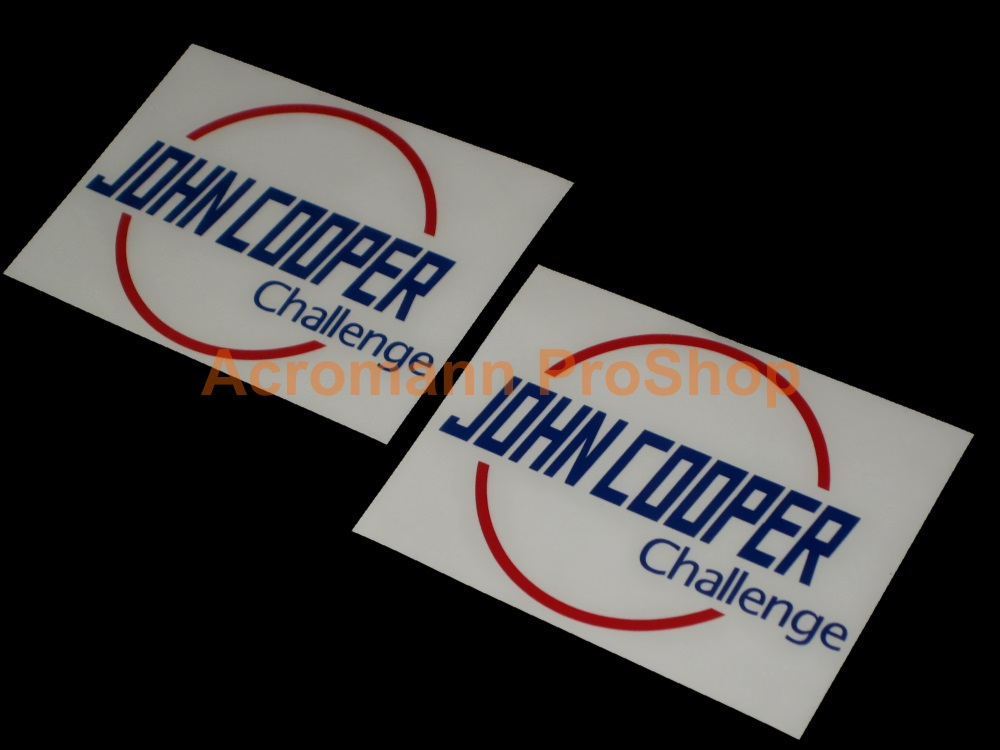 John Cooper Challenge 4.5inch Decal (Style#1) x 2 pcs