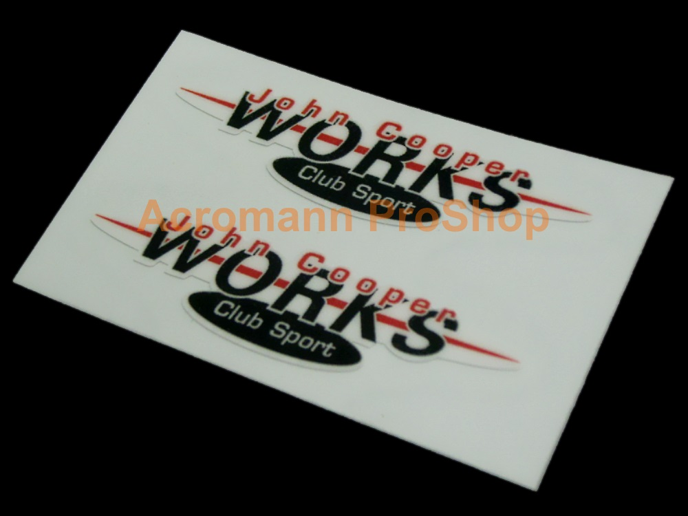 JCW John Cooper WORKS Club Sport 6inch Decal (Style#1) x 2 pcs