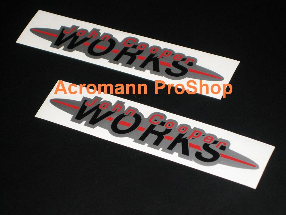 JCW John Cooper WORKS 6inch Decal (Style#1) x 2 pcs