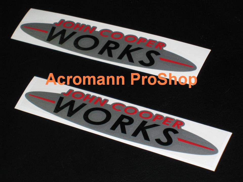 JCW John Cooper WORKS 6inch Decal (Style#2) x 2 pcs